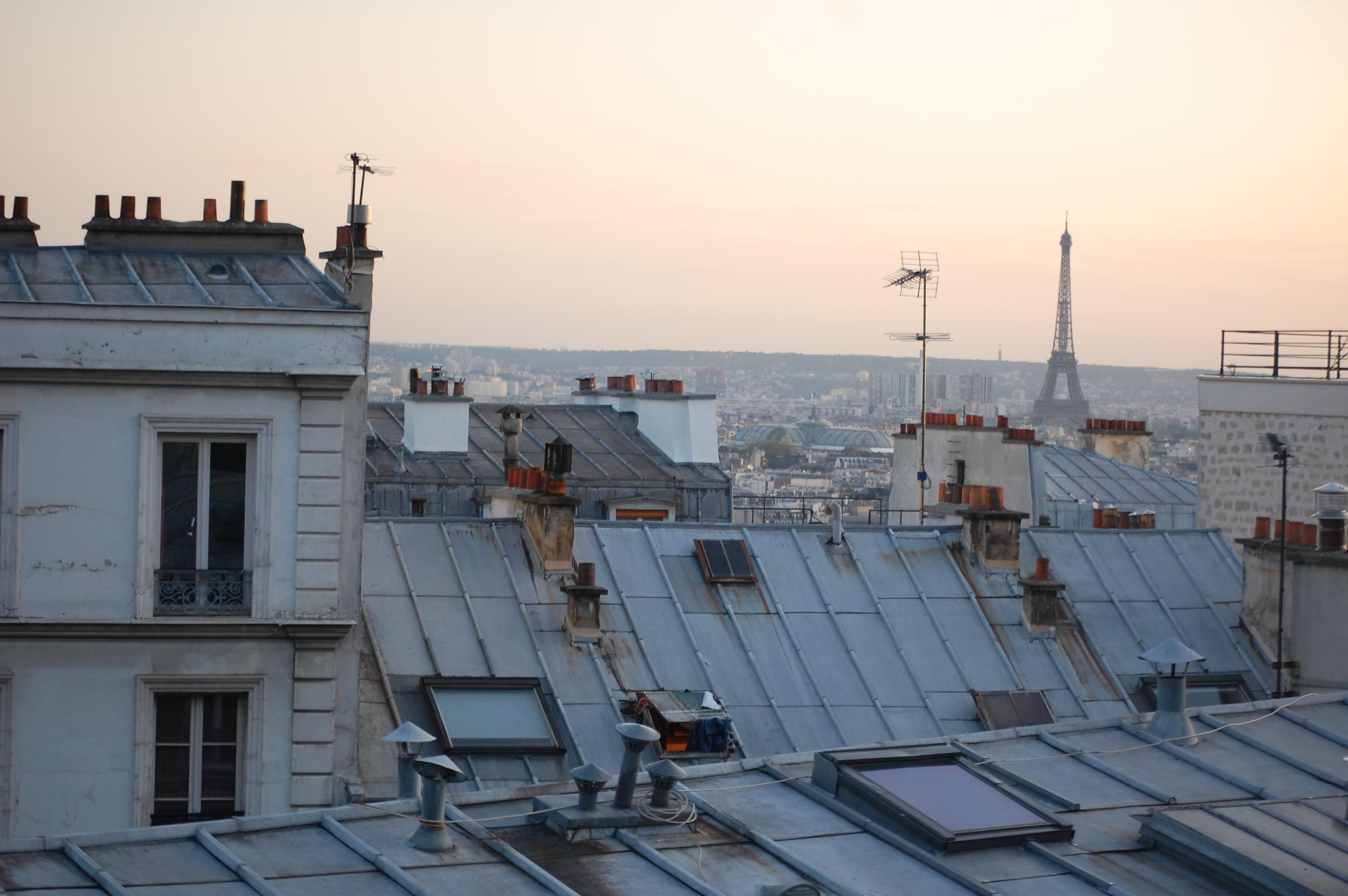 Toiture en zinc a travers toit